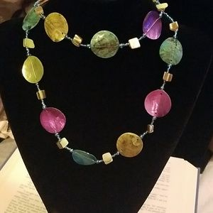 Jewelry - 💜 Colorful Handmade Shell Necklace